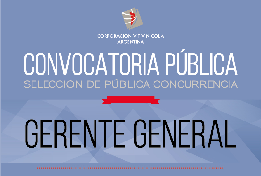 CONVOCATORIA PÚBLICA. GERENTE GENERAL